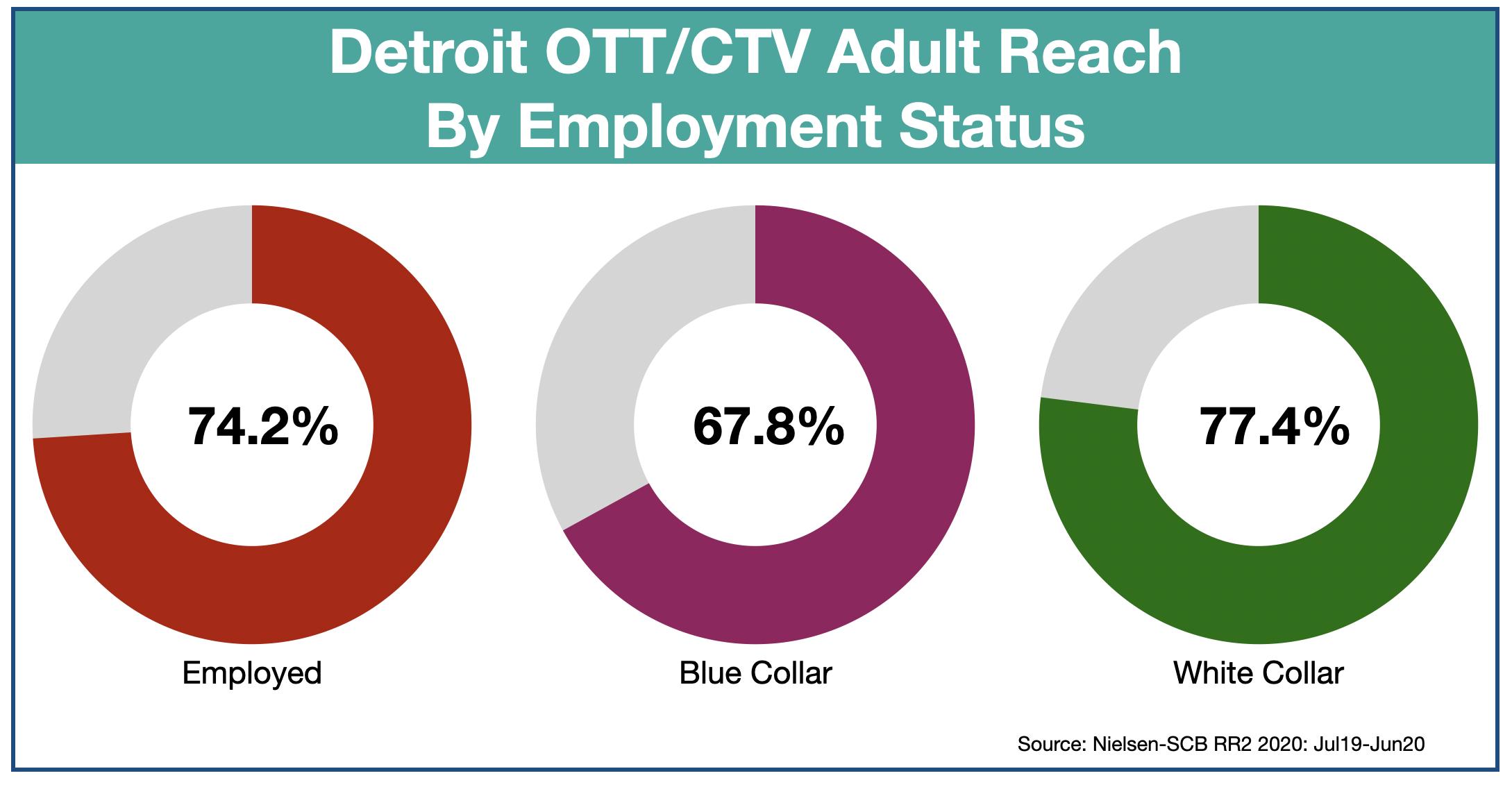 Advertise in Detroit OTT & CTV-Employment Status